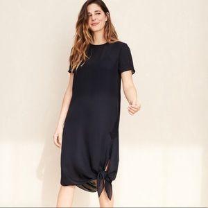 Jenni Kayne Silk Tie Slip Dress in Dark Navy NWT